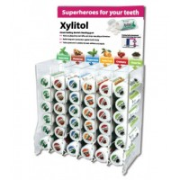 Display of xylitol tablets